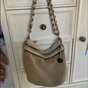 Woven ladies handbag